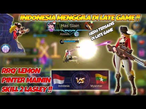 RRQ Lemon Mengamuk Pake Lasley Kontes Arena Indonesia VS Myanmar Caster Abal