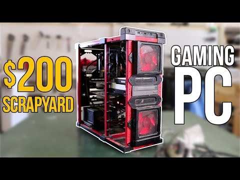 The $200 Scrapyard i7 Dual-GPU Gaming PC built from Scratch?!