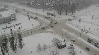 Снегопад в городе Харьков [2018-01-23 11:02:40]