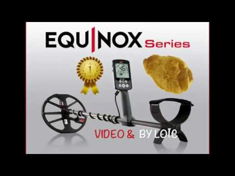Equinox minelab 800 test sur or natif gold native