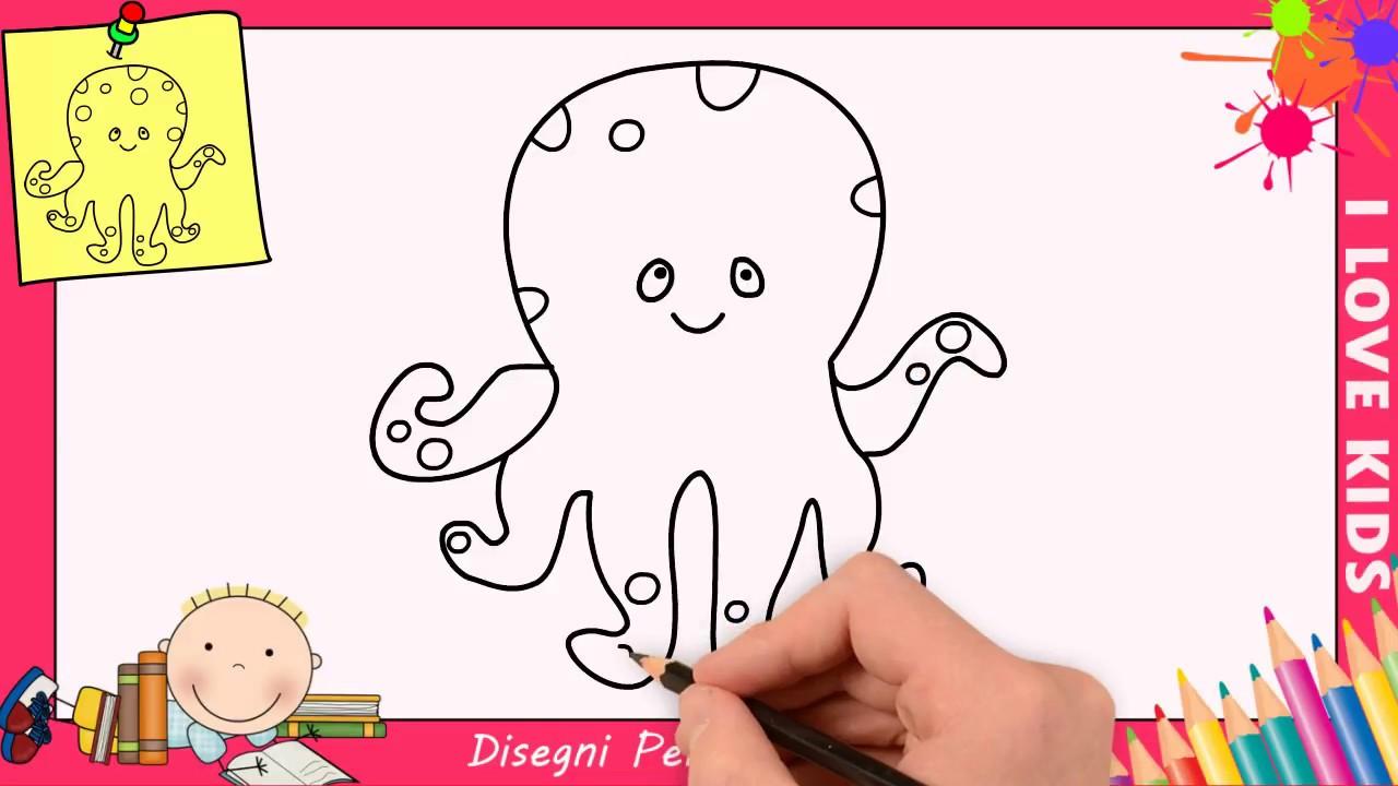 Come Disegnare Un Polpo Facile Passo Per Passo Per Bambini 1 Youtube