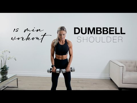 15 Minute SHOULDER WORKOUT at Home or the Gym with Dumbbells