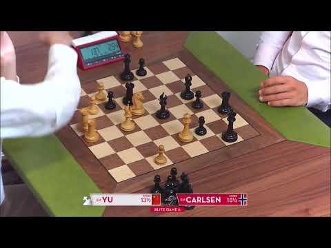 GM Yu (China) - GM Carlsen (Norway) 5 Min + PGN