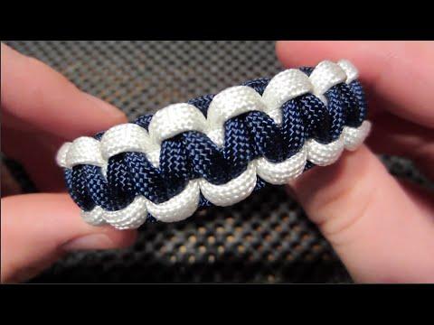 Easy TwoTone Paracord Bracelet Tutorial YouTube Best Paracord Bracelet Patterns