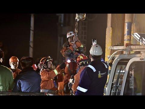 انتشار فیلم قدردانی معدنچیان محبوس چینی از امدادگران