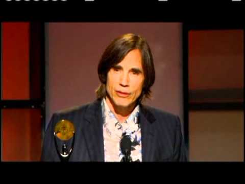 Jackson Browne accepts award Rock and Roll Hall of Fame inductions 2004