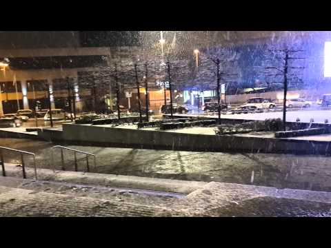 Snow in Liverpool 26-12-2014