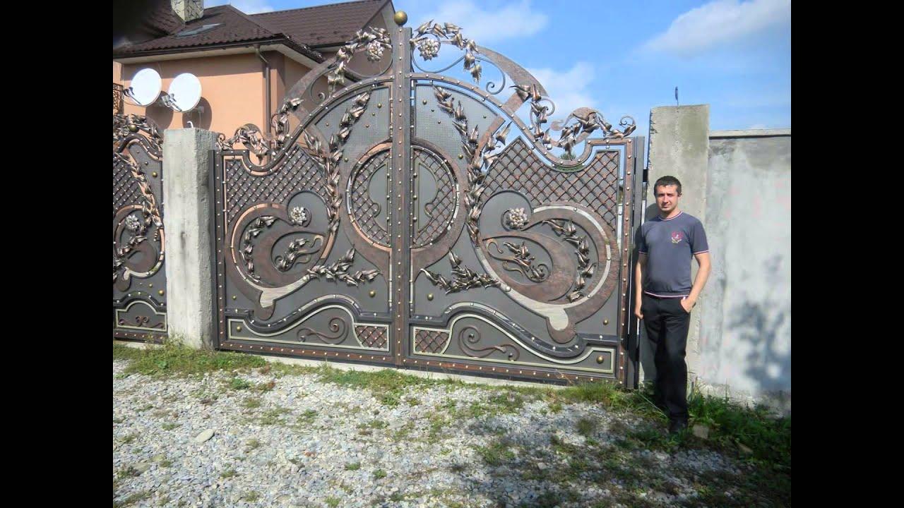 металеві ворота фото