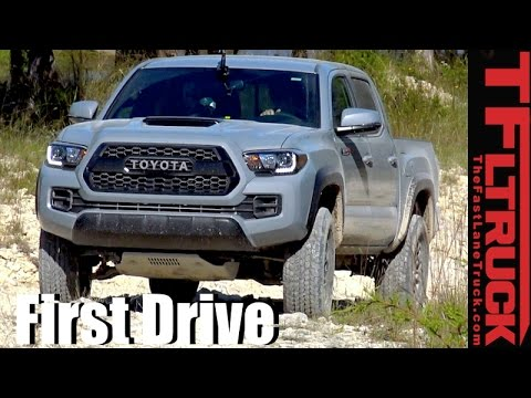 2017 Toyota Tacoma Trd Pro First Drive Off Road Technology Demonstration