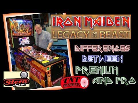 #1420 Stern IRON MAIDEN Premium And PRO Pinball Machine Comparisions! TNT Amusements