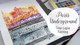 Paris Underground || Time Lapse Painting!