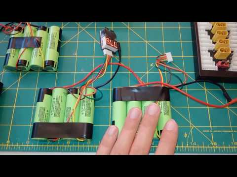 How to make a 18650 4s battery pack - LiCoO2 Panasonic cells - spot weld