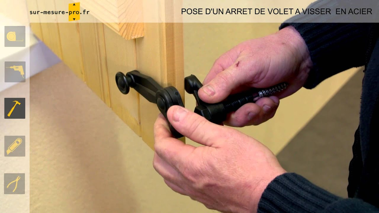 pose arret de volet composite visser par sur mesure youtube. Black Bedroom Furniture Sets. Home Design Ideas