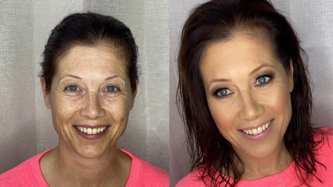 Makeup on mature skin