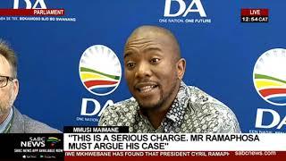 Mkhwebane's report | DA responds to Public Protector's findings