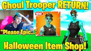 Ninja Begs Epic To Bring Back Ghoul Trooper! (New Info) - Fortnite Funny Moments
