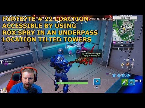 FORTNITE FORTBYTE #22 FOUND LOCATION ACCESSIBLE BY USING ROX SPRAY IN AND UNDERPASS