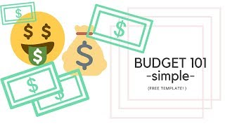 BUDGET 101 - How to make a budget to save money - FREE template! - Single Working Mom