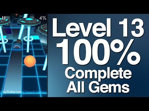 Rolling Sky Level 13 100% Complete All Gems