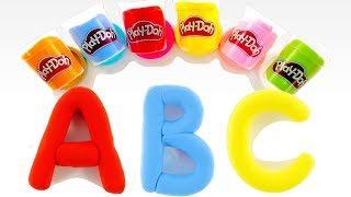 Learn Alphabet | ABC Song for Kids | Learn Colors with Play Doh | Make Play Doh Letters from A to Z