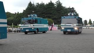 平成30年警視庁機動隊観閲式 車両部隊 分列行進 Review of Tokyo M.P.D. riot police