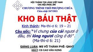 HTTL PHÚC ÂM -  Chương Trình Thờ Phượng Chúa - 18/07/2021