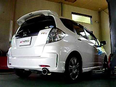 ホンダフィット HONDA Fit RS 6MT マフラー音質 ダイノ - YouTube
