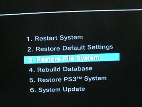 How to fix PS3 Black Screen