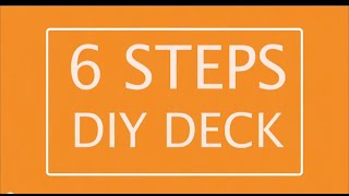 Diy Deck.  Learn How To Build Your Own Deck.