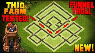 Clash of Clans | BEST TH10 Farming Base w/ NEW BOMB TOWER | Town Hall 10 Hybrid Base TESTED! [2016]