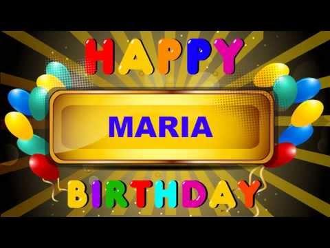 Maria - Happy Birthday - cards - Happy Birthday