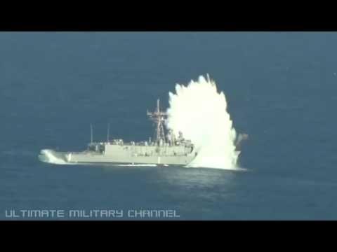 Submarine TORPEDO ATTACK! U S  Navy SHIP SINKING exercise – Pacific Ocean, 2016