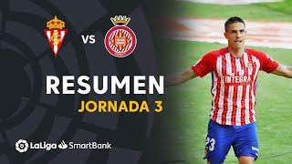 Resumen de Real Sporting vs Girona FC (2-0)