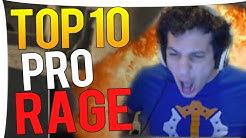 CS:GO - TOP 10 BEST PRO RAGE MOMENTS !