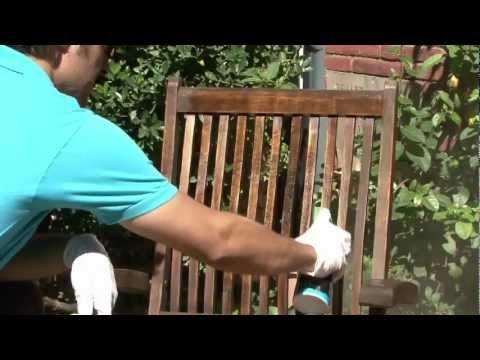 Rénover le mobilier de jardin en teck - YouTube