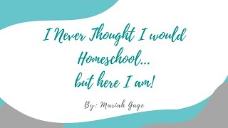 I Never Thought I Would Homeschool....But Here I Am