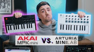 Akai MPK Mini Mk.3 VS Arturia MINILAB MK.2 - Which should YOU choose?