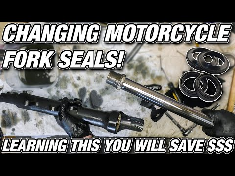 Changing Motorcycle Fork Seals! - Save a lot of Money!