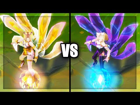 KDA Prestige Ahri vs KDA Ahri Skins Comparison (League of Legends)