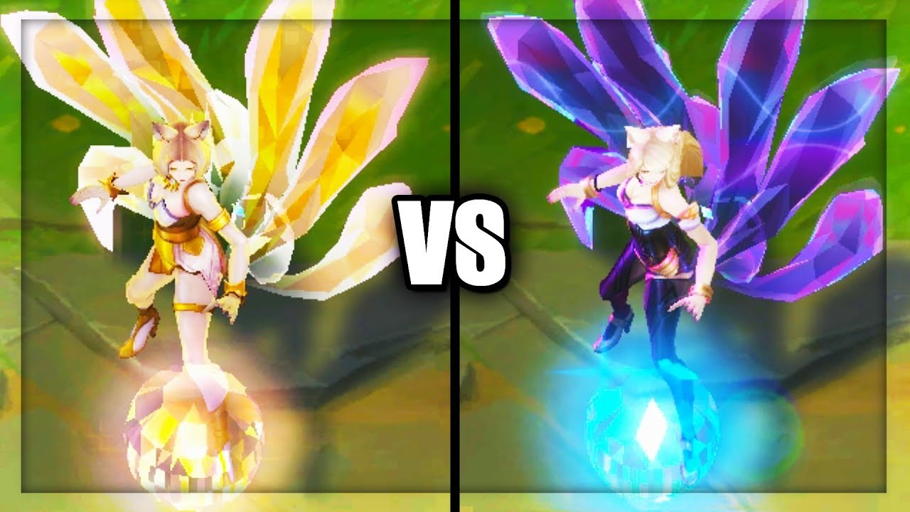 Kda Prestige Ahri Vs Kda Ahri Skins Comparison League Of Legends