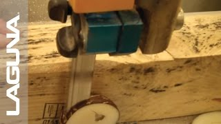 Woodworking - Laguna Tools Bandsaw - Resawking Blade Cutting Through Taguas Nut