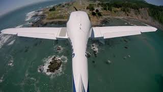 Landing at Shelter Cove (0Q5) - Amazing Lost Coast airstrip!
