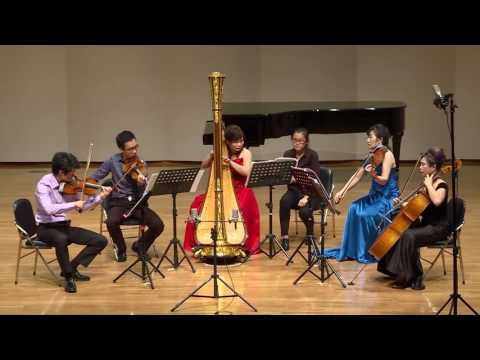 Jean Cras: Quintet for Harp, Flute, Violin, Viola, and Cello 1928, 1st movement: Assez Anime