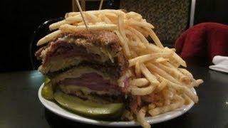 Governor Stumpy's Rubenator Triple Reuben Sandwich Challenge Record!!