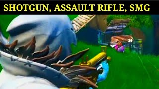 GET AN ELIMINATION WITH A SHOTGUN, ASSAULT RIFLE AND AN SMG - FORTNITE BOOGIE DOWN GUIDE! (SEASON X)