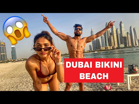 DUBAI BIKINI BEACH 😱 - ROHIT SONIYA VLOGS