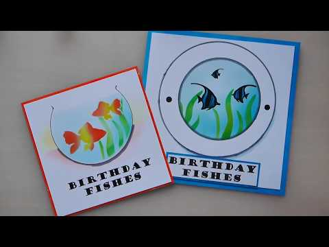 Stencilling and Ink project - Fish bowl /Port Hole for fish