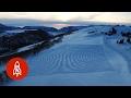 Este homem deixou centenas de marcas na neve: Quando você ver de longe não vai acreditar!