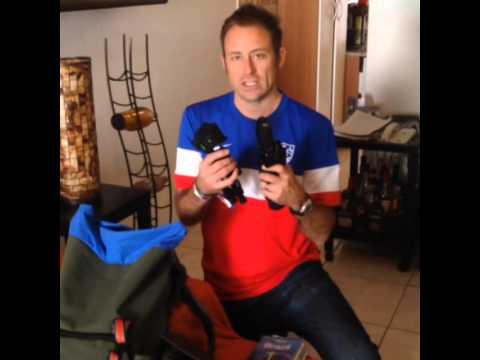 Brazil author Kevin Raub packing his carry-on bag