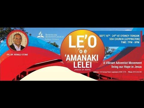 Le'o 'oe 'Amanaki Lelei | Pr. Dr. Ronald Stone